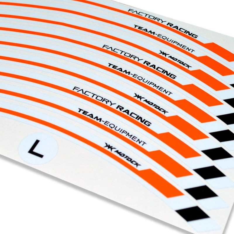 Adesivo cerchio ruota KTM 200 RC Duca Bianco