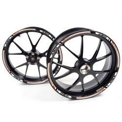 Adesivo cerchio ruota KTM 690 Supermoto R Bianco