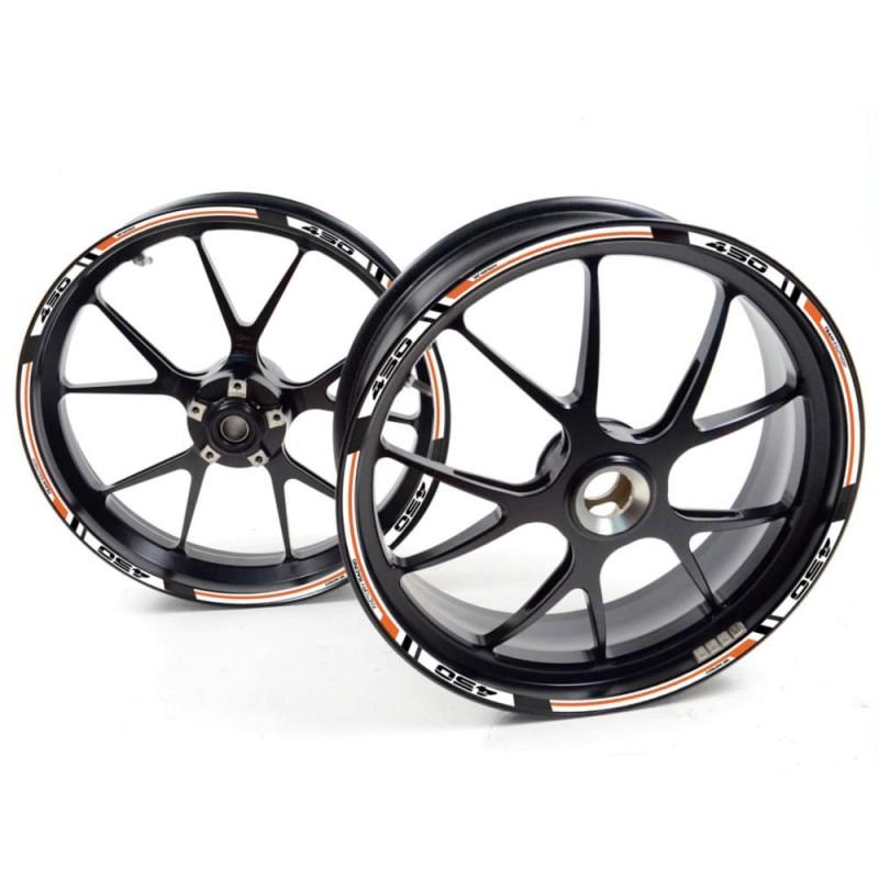 Sticker wheel rim KTM 690 Supermoto R White