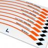 Adesivo cerchio ruota KTM 690 SMC R Arancione