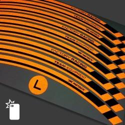 Наклейки обода KTM 690 супермото R Оранжевый