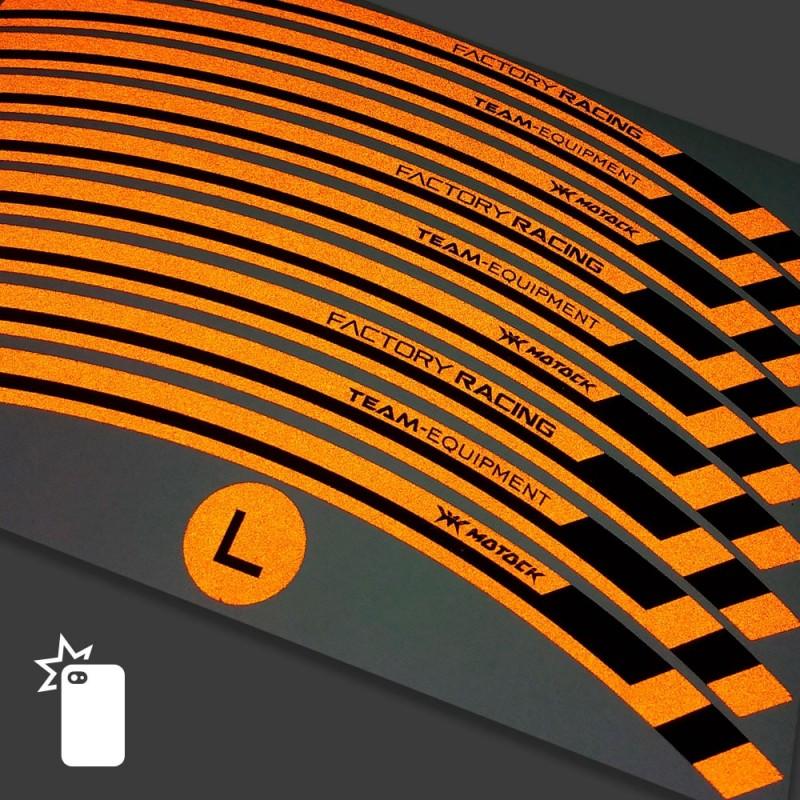 Sticker wheel rim KTM 690 Supermoto R Orange