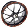 Adesivo cerchio ruota KTM 690 Supermoto R Arancione