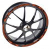 Aufkleber felge KTM 690 Supermoto R Orange