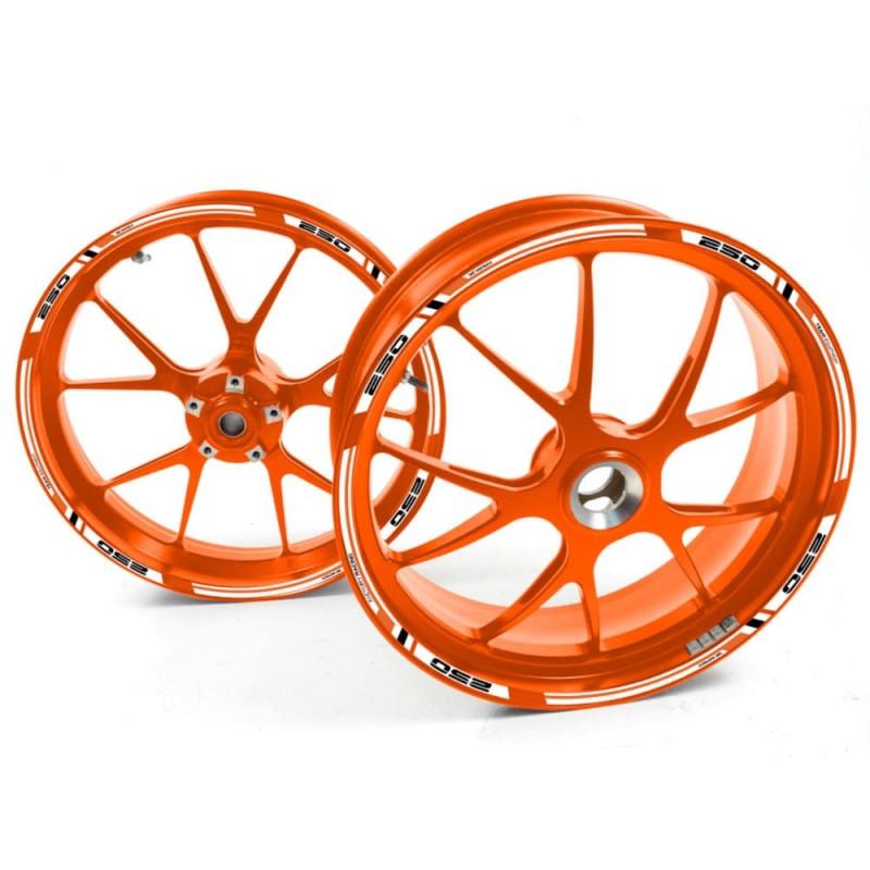 Adesivo cerchio ruota KTM 1290 Super Duke G di Arancia