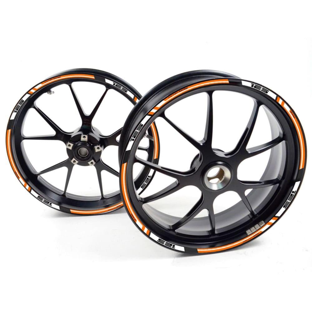 FRFR Liseret jantes KTM RC 390 RC390 RC-390 Duke Orange autocollant jante roue v